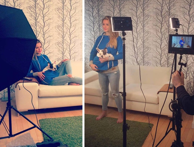 Behind the scenes from our photoshoot in Krakow, Poland. Roodie wants to make pets and their owners worldwide happy!