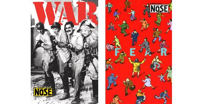 """For $15: Choose from 2 issues of """"The Nose"""" — #15, """"War"""" (2007), OR #8, """"Fear"""" (2003). 24 pages, 7 x 11 in."""
