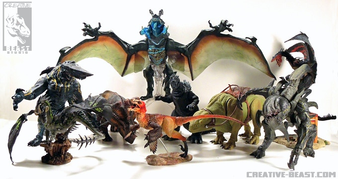 'Some of the creature toys I've had the pleasure of sculpting'