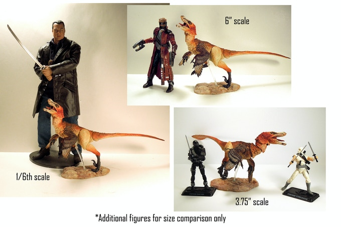'Scale reference to other action figures'