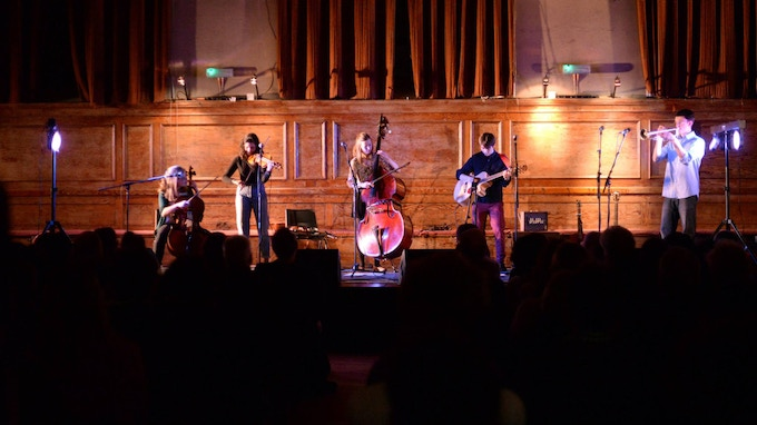 Double header with Maz O'Connor at Cecil Sharp House, 2015 (photo credit: Emma Werner)