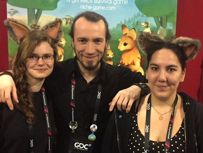 Philomena, Severin and Laura at GDC