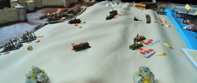 A mass battle in play.