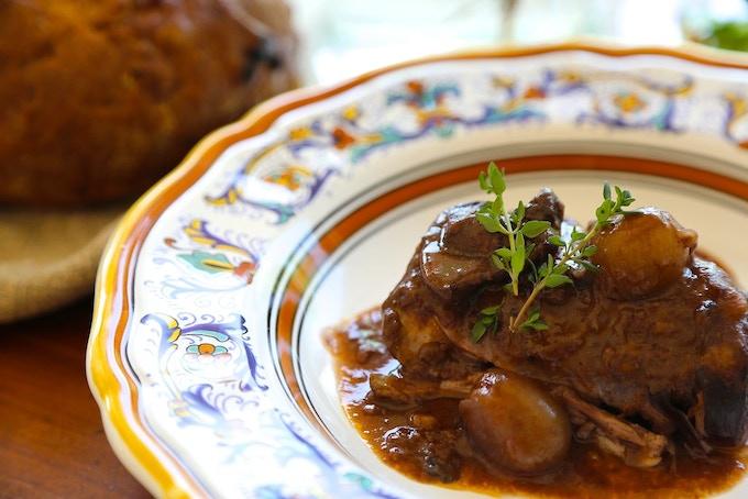 Coq Au Vin finished dish