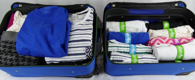 Suitcase - Before & After Tidy Snap (exact same clothing!)