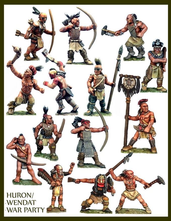 All miniatures are shipped in 28mm unpainted metal