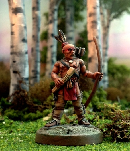Flint And Feather Game System And 28mm Metal Miniatures By