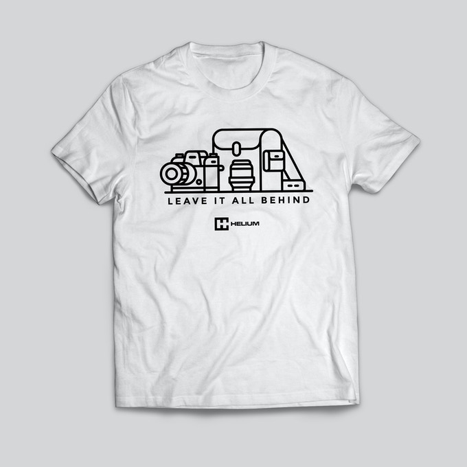The T-shirt design by Ruben Rodriguez pays homage to the Helium Core's origins