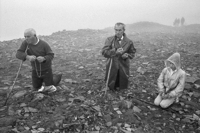 PRINT A  Pilgrims on Croagh Patrick, 1987