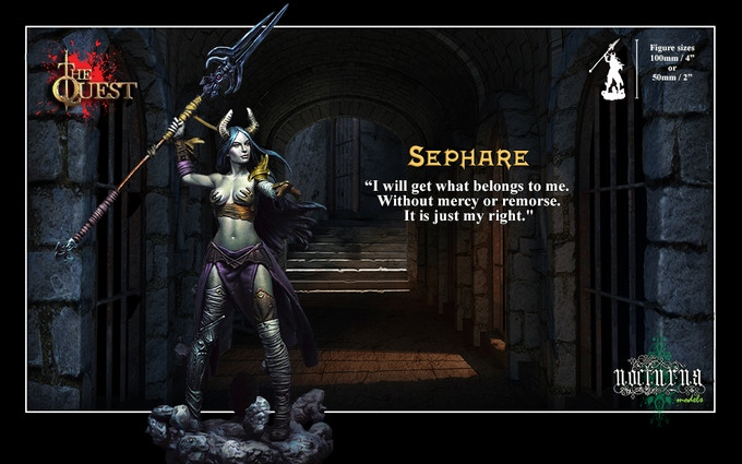 SEPHARE the dark elf Witch, 70 mm scale figure (about 100mm / 4 inches) Resin kit to assemble and paint