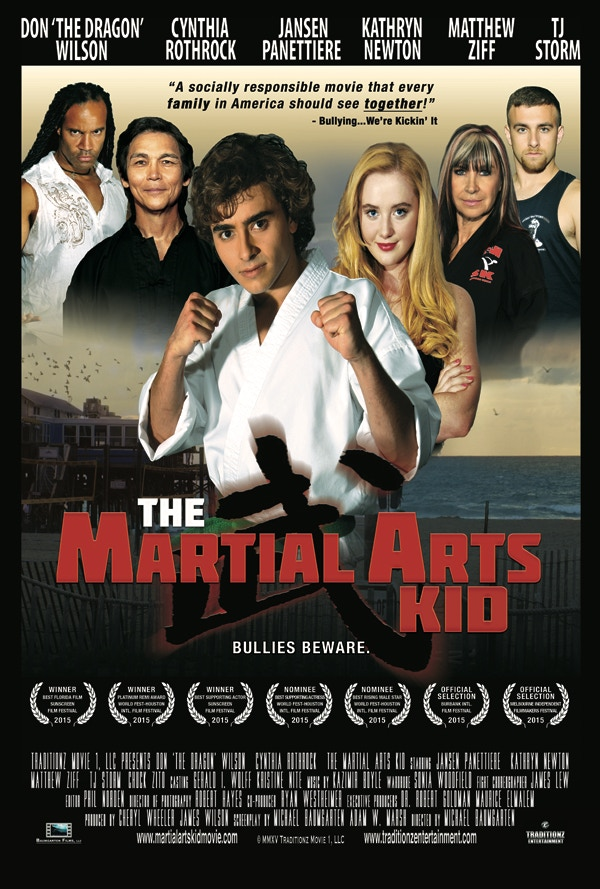 The Martial Arts Kid is a spectacular coming of age family action film that is founded in traditional and mixed martial arts.
