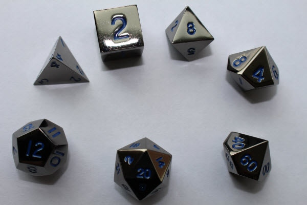 Electric Blue Numbers