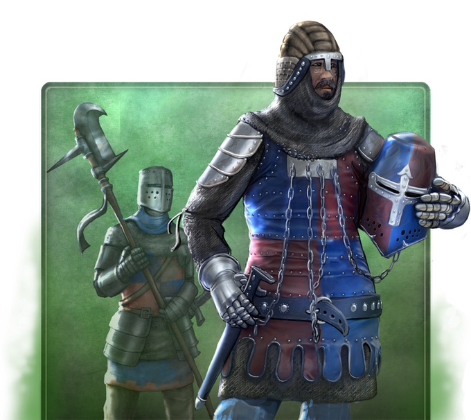 Each of the nearly twenty distinct military units in Feudums has their own strengths and weaknesses.  Some even possess an edge against other specific other types.  Train or recruit your own army to help you seize the crown!