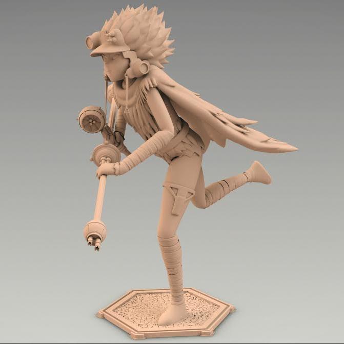 First Girrion 3D model (not actual 3D print)