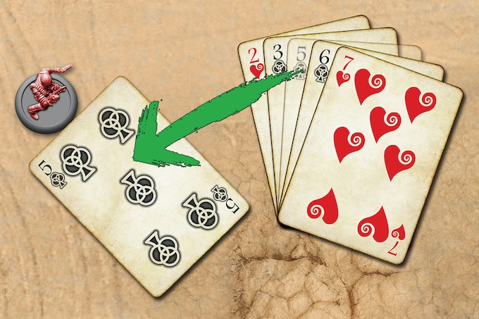 To Move a Character in your Gang, play a card from your Hand so as it is touching the Base of the Character