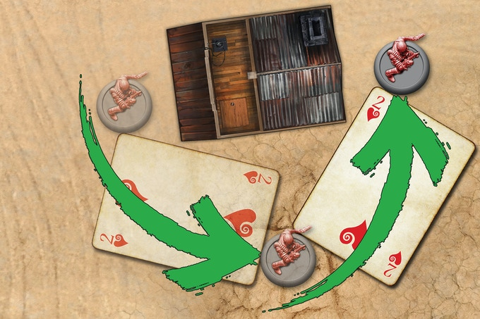 A red-suited card lets a single Character Move twice, but does not allow a draw from the Supply Deck