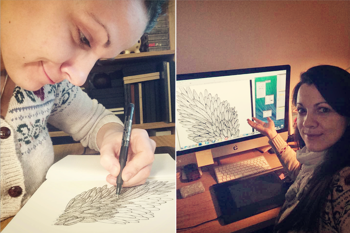 Sketching (left) , editing (right)