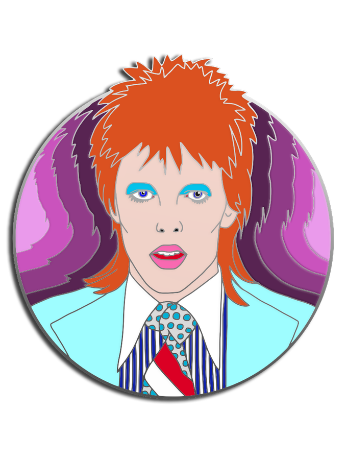 A Tribute to the Starman , David Bowie inspired lapel pins