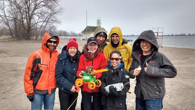 Field Test crew at Cherry Beach (snowing!)