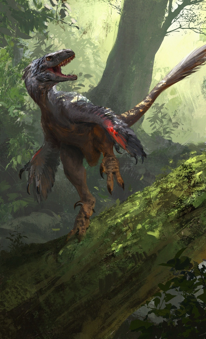 'Atrociraptor package art by Jonathan Kuo'