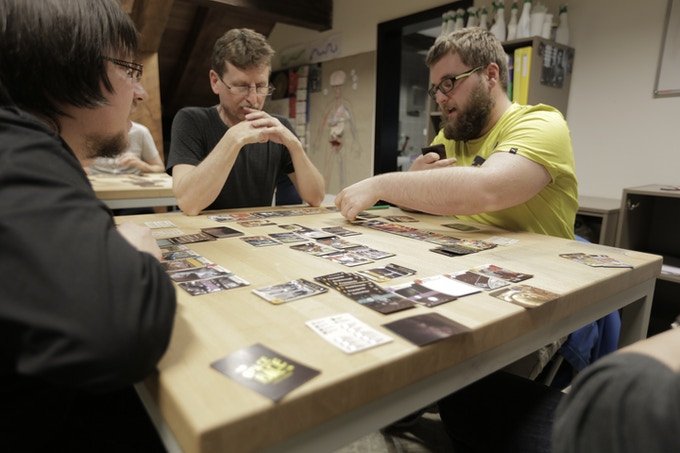 Space Race: The Card Game. One of the most recent playtesting sessions. Thank a lot to Ondrej Kew Kurka and guys from Deskoherni klub Olomouc for such a pleasant event!