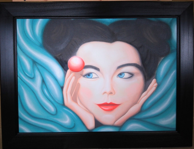 'Bjork' painting (framed)