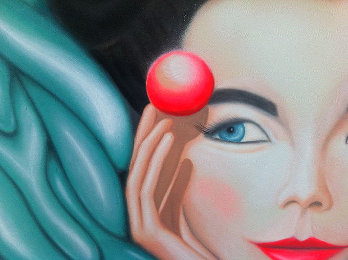 'Bjork' painting (close up)