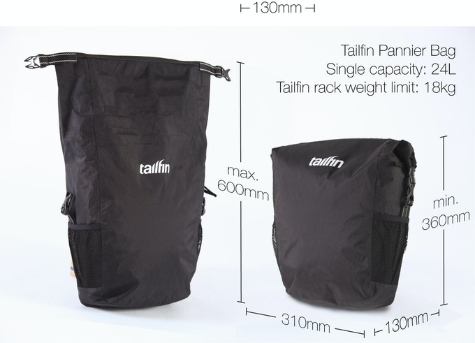 Tailfin pannier bag specification