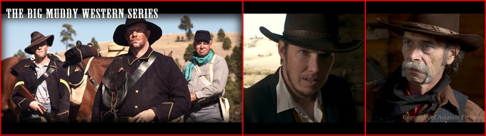 Martin Hoffert (William Sackett), Ben Anderson (Doyle McCormack), and Cavalry Troopers 'Indian Gold' (2017) filmed on our new BM Cinema Cameras.