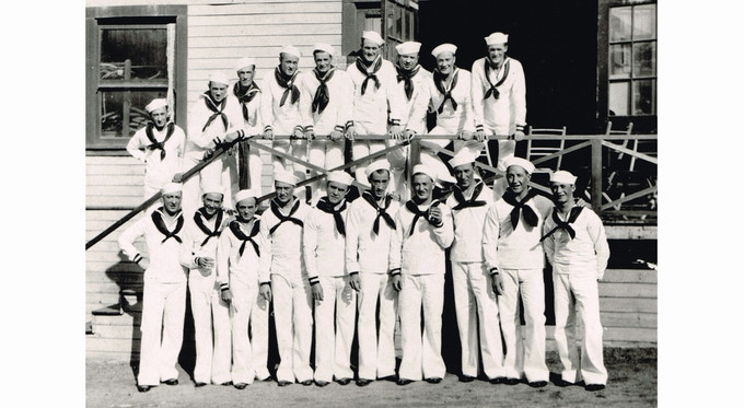 The Whiteman boys on the Universal lot. Courtesy of the Jack Fulton family / Matias Bombal