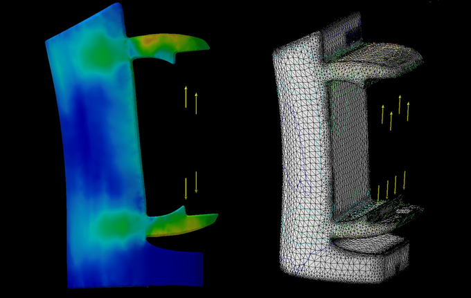 Finite element stress and deformation analysis