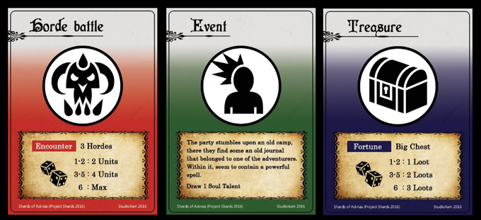 Some example of Encounter / Fate cards
