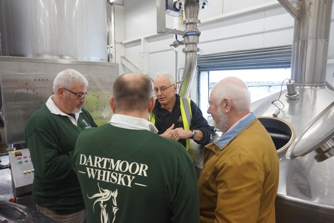 Where the malted barley is turned into 'beer wash' at Dartmoor Brewery