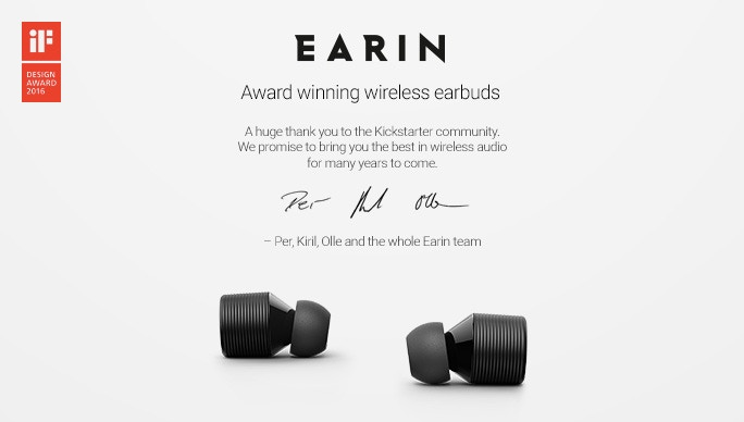 EARIN is the new definition of wireless audio.No cables. No wires. No distractions.Just the most immersive sound imaginable.