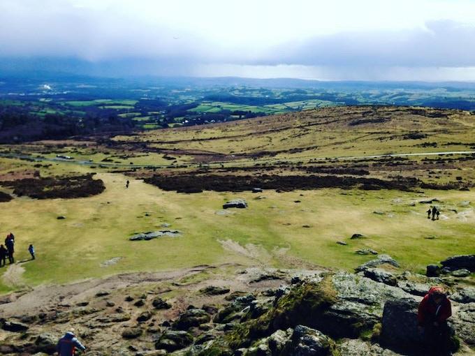 The rolling hills of Dartmoor in Devon.