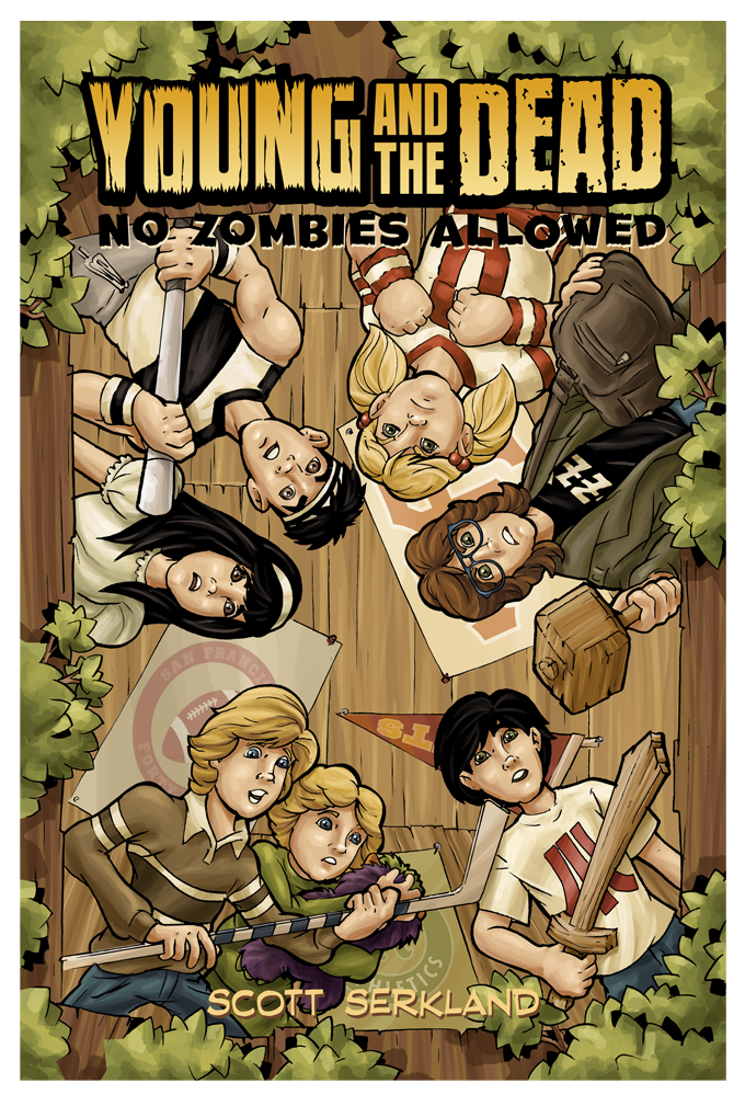 Young and the Dead: No Zombies Allowed Issue 2 Cover Art