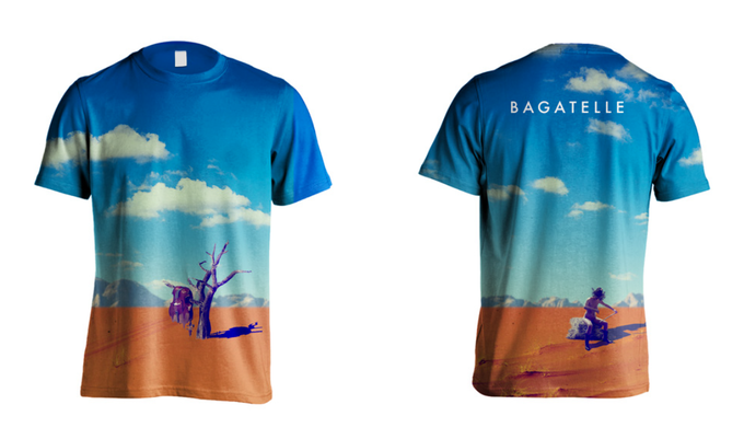 """Exhibit B: the official Bagatelle """"all over"""" tee"""