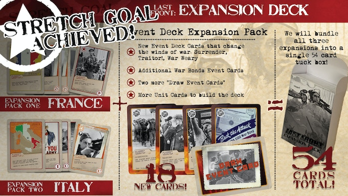 Thanks again for the outpouring of support! You'll now get a total of 54 extra cards with your pledge!