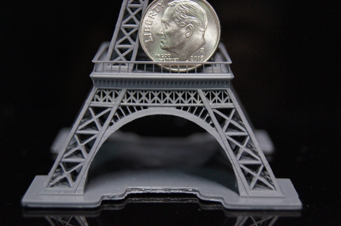 """4.7"""" Eiffel tower by Pranav Panchal (x, y 65um, z 40 um)"""