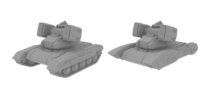 Astagar Self Propelled Artillery Tracked and Grav Variants