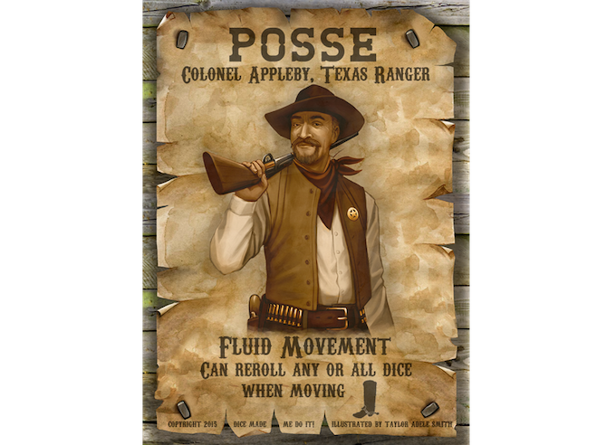 Colonel Wayne Appleby can reroll any or all of his Action Dice when he plays the Move Action Card.