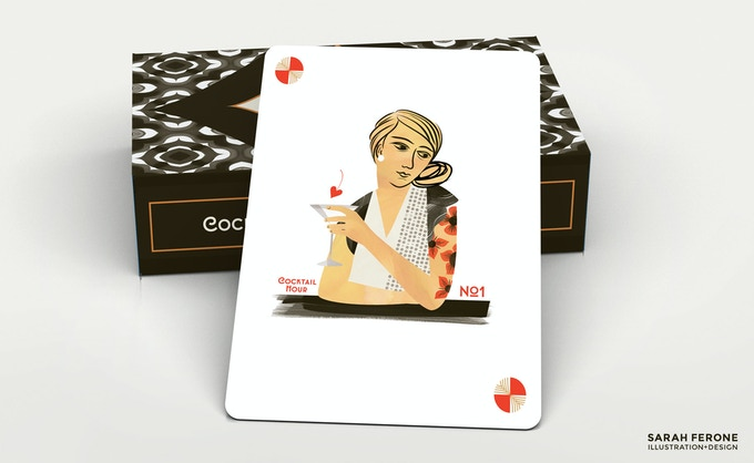 The deck includes two wild cards, one red and one black.