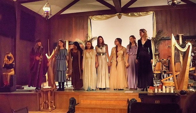 The Bay Area Youth Harp Ensemble at our 2014 Winter Solstice concert