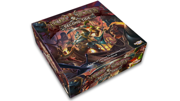 Pirate crews clash in swashbuckling battle for Davy Jones' treasure in this revamped miniatures board game for 2 to 6 players.