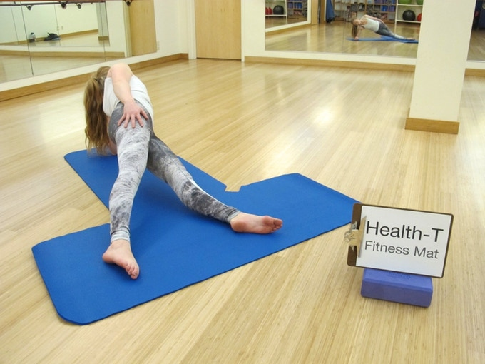 The Health-T Fitness Mat is perfect for every type of yoga posture.