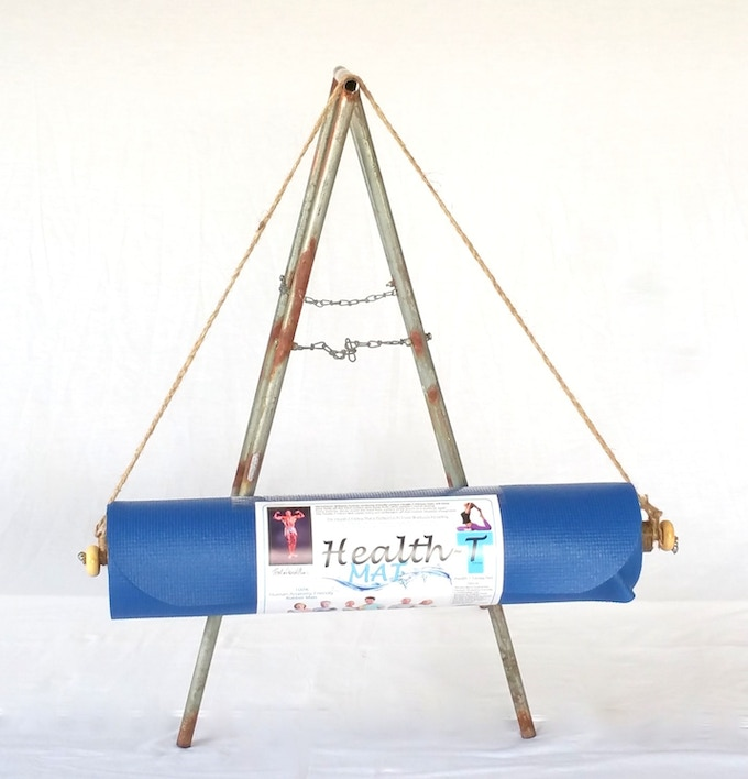 Health-T Fitness Mat with Universal BamBuddha Bar Carrying System