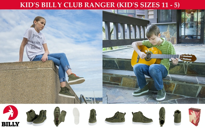 KID'S SHOE (CANVAS MATERIAL) — BILLY CLUB RANGER — KID'S SIZES 11-5