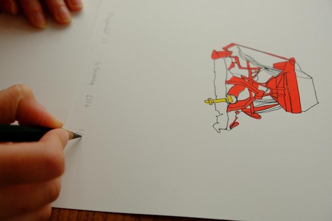 'Playmobil 07' Screen print
