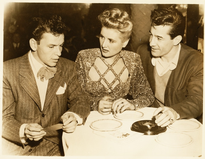 Rose Marie with Frank Sinatra during the early days of Vegas