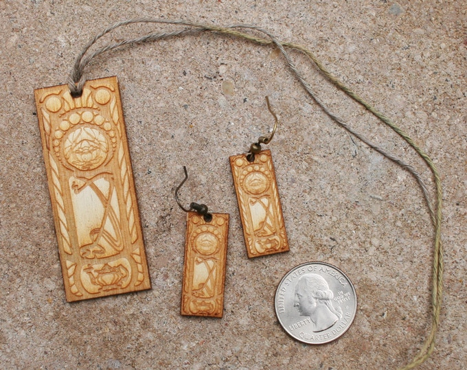 Temple of Unitea: Earrings + Necklace